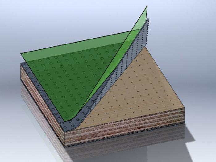 塑面钢化板
